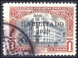 Mexico 1930 1p Mexico City Post Office Habilitado 1930 Fine Used. - Mexico