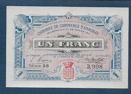 Chambre De Commerce D' Annonay - 1 Fr - 1917  ( Pirot N° 18 ) - Chambre De Commerce