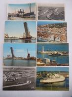 SETE - Bateaux Divers Dans Le Port De Commerce Entre 1930 Et 1985 Lot De 8 CPM - Commerce