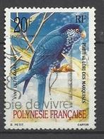 Polynésie  N° 361      Oiseaux Lori Des Marquises     Oblitéré B/ TB    Soldé à Moins De 20 % ! ! ! - Parrots