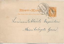 NORWAY NORGE 1892 PC POSTED 1 PHOTO-STAMP PC USED - Norvège