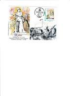 Carte Centenaire De L'armistice Reims Avec Timbre Personnalisé (carte+ Timbre+cachet Déssinés Par R. Irolla) - Reims