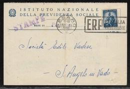 DA PESARO A SANT'ANGELO IN VADO - 18.4.1950. - 6. 1946-.. Republic