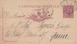 INTERO POSTALE CENT. 10 - MILANO - VIAGGIATA  PER PAVIA - 1878-00 Humbert I