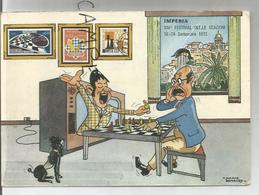 Imperia (Ligurie). XIVe Festival International D'échecs. 16-24 Septembre 1972. Signé Mario Donaudy - Echecs