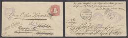 Argentina - Stationery. 1891. BA . Haida, Bohemia. 8c Red Stat Env Fwded Fine Ilustr Cachet. Nice Item. - Argentine