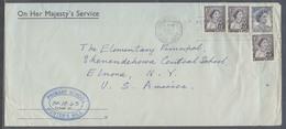 AUSTRALIA. 1953 (31 Oct). Drummoyne, NSW - USA. OHMS `perfin OS Multifkd Env. Fine. - Australia