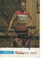 CARTE CYCLISTE   JAN JANSSEN  SIGNEE  BEAULIEU FLANDRIA 1972  FARM  FRITES - Radsport