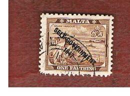 MALTA   - SG 234 -  1948 HARBOUR OF VALLETTA (OVERPRINTED SELF-GOVERNMENT 1947)   - USED - Malta