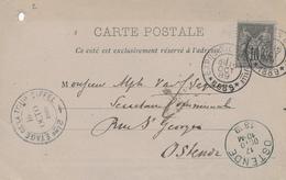 016/29 - Exposition Universelle 1889 - RARE Carte Libonis / Variante Texte Imprimé Pour Envoi Par Ballon Et Trou Ficelle - Postmark Collection (Covers)