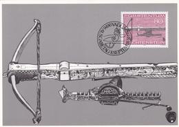 Liechtenstein 1980 Hunting Weapons Set Of 3 Maximum Cards - Maximum Cards