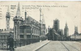 Gent - Gand - C No 29 - La Nouvelle Poste, L'Eglise St-Nicolas, Le Beffroi Et St-Bavon - De Nieuwe Hoofd-Post - 1912 - Gent