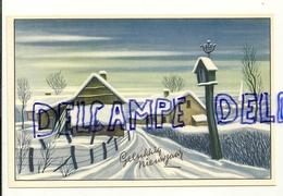 Gelukkig Nieuwjaar. Village Sous La Neige. Coloprint 3803 - Anniversaire