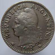 Argentina 5 Centavos 1905 VF / XF - Argentine