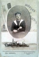 Photo Montage Marin, Equipages De La Flotte, Alph. LEENAERTS TOULON - Guerre, Militaire