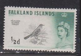 FALKLAND ISLANDS Scott # 128 MH - QEII & Falkland Islands Trush - Falkland Islands