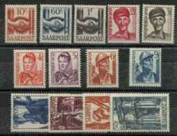 Sarre (1948) N 231 A 243 (Luxe) - 1947-56 Occupation Alliée