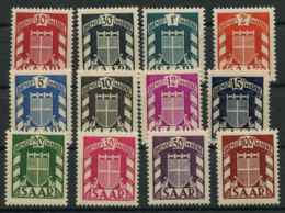 Sarre (1949) Service N 27 A 38 (Luxe) - 1947-56 Occupation Alliée