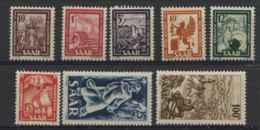 Sarre (1949) N 255 A 262 (Luxe) - 1947-56 Occupation Alliée