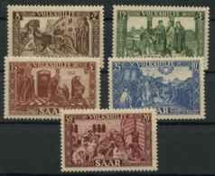 Sarre (1950) N 278 A 282 (Luxe) - 1947-56 Occupation Alliée