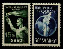 Sarre (1952) N 301 A 302 (Luxe) - 1947-56 Occupation Alliée