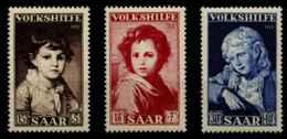 Sarre (1952) N 316 A 318 (Luxe) - 1947-56 Occupation Alliée