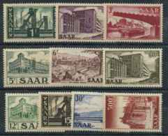 Sarre (1952) N 306 A 315 (Luxe) - 1947-56 Occupation Alliée