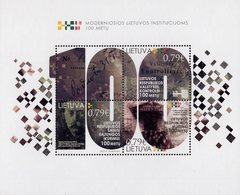 Lithuania - 2019 - Centenary Of Modern Institutions Of Lithuania - Mint Souvenir Sheet - Lituania