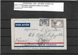 Argentina 1936,Air France Cover B.Aires To Paris ( Ref 2534) - Briefe U. Dokumente
