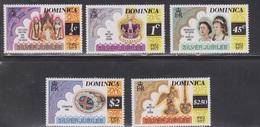 DOMINICA Scott # 521-5 MNH - QEII Silver Jubilee - Dominica (1978-...)