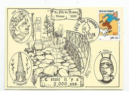 38 Isère - Vienne Fete Du Timbre Tintin 2000 La Voie Romaine - Vienne