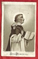 PS54 ----SAN DOMENICO ---ANTICHISSIMO SANTINO LITOGRAFATO CM. 7 X 11 - Images Religieuses