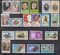 DOMINICA Lot Of Mostly MNH - Birds, Sports, Sea Shells - Dominica (1978-...)