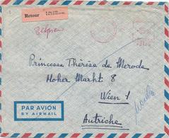 031/29 - Enveloppe Affranchissement Mécanique ST GILLES 1966 Vers VIENNE Autriche - Cachet Et Etiquettes , Dont RETOUR - Franking Machines