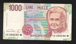 ITALY  1000  LIRE    1990 UNC - [ 2] 1946-… : Republiek