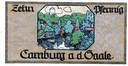 Billet De Nécessité 10 Pfennig De 1921 Allemagne - [ 3] 1918-1933 : República De Weimar