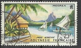 Polynésie  Poste Aérienne  N° 9  Paysage De Moorea   Oblitéréré   B/TB ....soldé à Moins De  20 % ! ! ! - Poste Aérienne