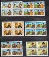 DOMINICA Scott # 405-10 MNH Blocks - Winston Churchill - 2 Cent Block Creased - Dominica (1978-...)