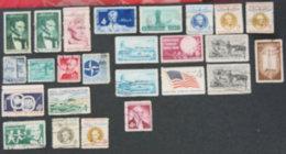 USA - ETATS UNIS D AMERIQUE - 1959 - YT 657 à 677 - United States