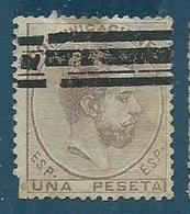 Timbre Espagne Roi King Amadeo 1 Peseta 1872 - 1868-70 Provisional Government