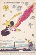 Illustrateur XAVIER SAGER - La Comète De Halley (18 Mai 1910) Femme Dévêtue,comète,tour Eiffel. - Sager, Xavier