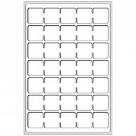 Coin Tray L For 35 Coins Up To 38 Mm Ø, Blue, Pack Of 2 - Supplies And Equipment