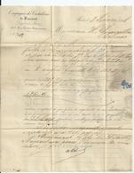 Lettre Avec Type Napoléon N° 22 Et Facture Compagnie Des Cristalleries De Baccarat , Paris , 1866 - 1862 Napoleon III