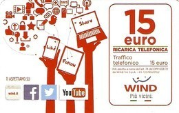*ITALIA - WIND* - Ricarica Usata (sc. 31/12/2021) - Schede GSM, Prepagate & Ricariche