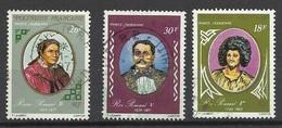 Polynésie  Poste Aérienne  N° 106 ; 108 Et 109  Dynastie Des Rois Pomaré Oblitérés B/TB ... Soldé à Moins De 20 % ! ! ! - Poste Aérienne