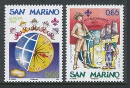 Saint Marin San Marino 2007 Yvert 2092/2093 ** Europa Cept 2007  Scoutisme Scouts Scouting - Europa-CEPT