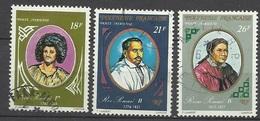 Polynésie  Poste Aérienne  N° 106  à  108  Dynastie Des Rois Pomaré Oblitérés B/TB ... Soldé à Moins De 20 % ! ! ! - Poste Aérienne