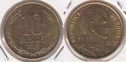 Cile 10 Pesos 2015 (Normal Rim) KM#228.2 - Used - Cile