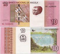 ANGOLA       10 Kwanzas       P-151B       10.2012 (2017)       UNC - Angola