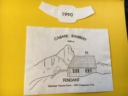 8799 - Cabane Rambert 2580 M. Suisse Fendant  1990 Vincent Favre - Bergen